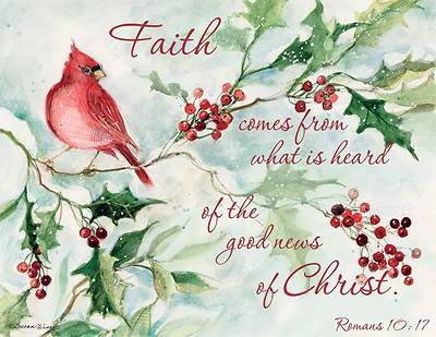 cardinals berries boxed christmas cards by lang