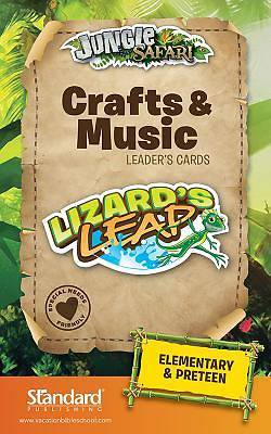 Standard VBS Jungle Safari Crafts & Music Leaders Cards-Elem/PreTeen