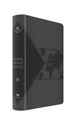Picture of Global Impact Bible, ESV (Charcoal Leatherluxe)