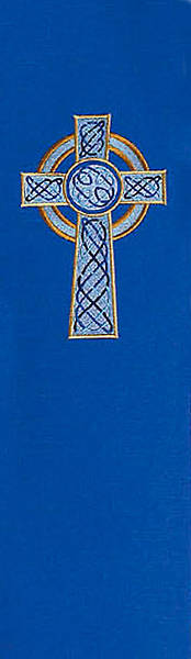 Celtic Cross 8700 Series Blue Stole