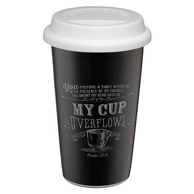 Picture of Chalkboard Collection: My Cup Overflows Ceramic Travel Mug