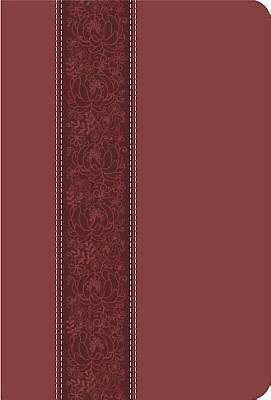 CEB Common English Large Print Thinline DecoTone Bible Cinnamon Bloom