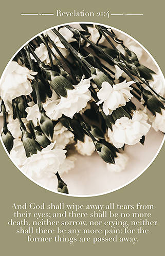 Picture of And God Shall Bulletin (Package of 100) Funeral