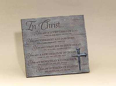 In Christ Plaque with Nail Cross