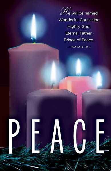 Picture of Peace Advent Candle Sunday 4 Bulletin (Pkg of 50)