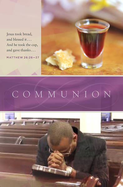 Picture of Shed for You Matthew 26:26-28, KJV Communion Regular Size Bulletin
