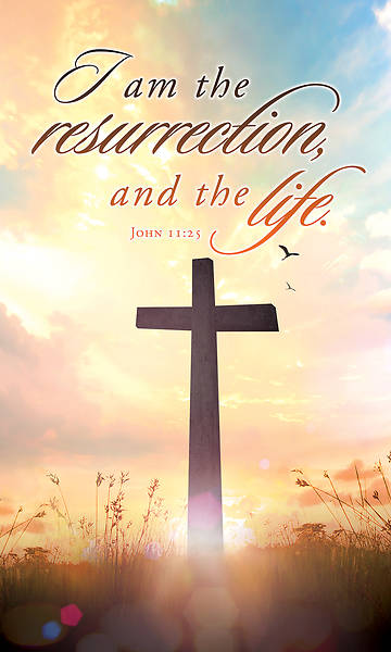 I Am Resurrection Easter Regular Size Bulletin
