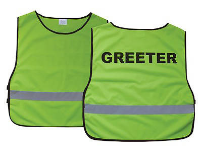 Greeter Green Safety Vest