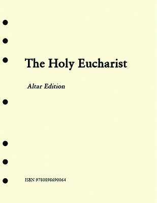 The Holy Eucharist Altar Edition Inserts