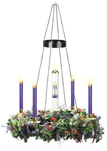 Hanging Advent Wreath