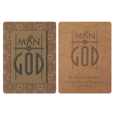 Man of God Debossed Patch Bookmark