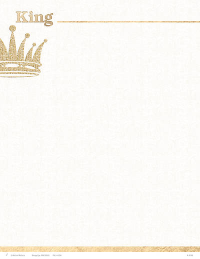 Picture of King Crown Christmas Letterhead