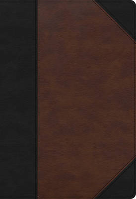Picture of KJV Super Giant Print Reference Bible, Black/Brown Leathertouch