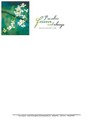 Im Alive Easter Dogwood Letterhead (Pkg of 50)