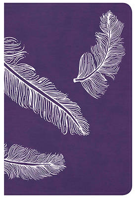 Picture of CSB Compact Ultrathin Bible for Teens, Plum Feathers Leathertouch