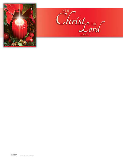 Picture of He is Christ the Lord Advent Letterhead
