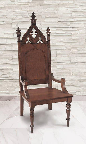 Cathedral Collection Celebrant Chair - Walnut Stain