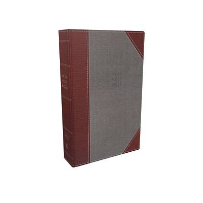 Picture of NKJV, Reference Bible, Super Giant Print, Cloth Over Board, Gray/Red, Red Letter Edition, Comfort Print
