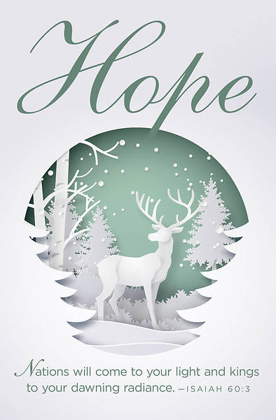 Hope Paper Art Advent Bulletin (Pkg of 50)