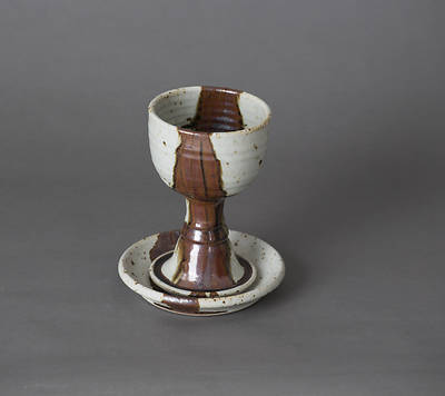 By His Stripes Chalice and Paten Set - Brown