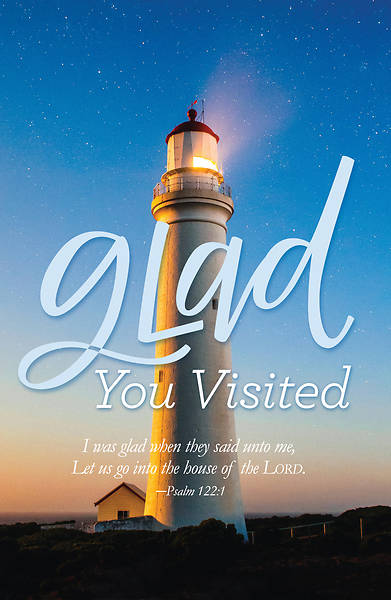 Glad You Visited Lighthouse Postcard