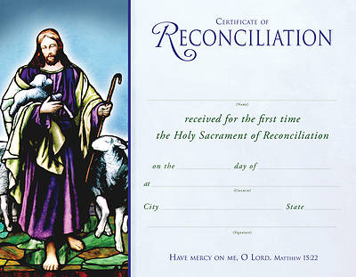 Picture of Jesus the Lamb Certificate
