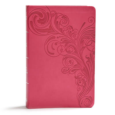 Picture of KJV Giant Print Reference Bible, Pink Leathertouch