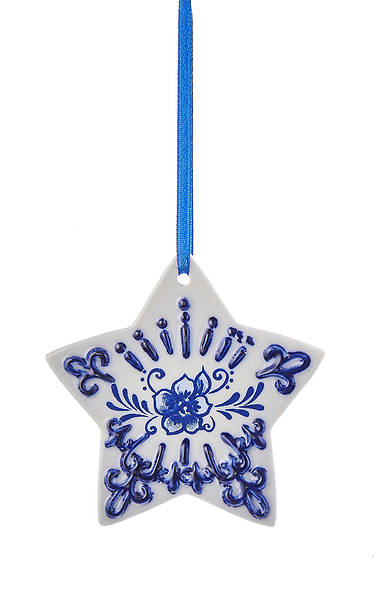 Delft Blue Star Ornament