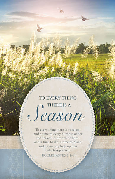There is a Season Funeral Bulletin - Pack of 100