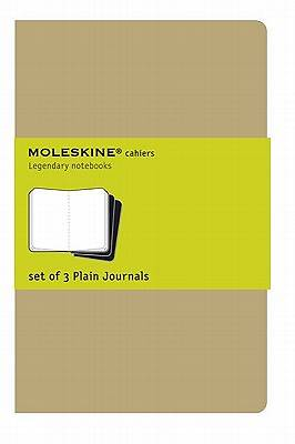 Journals Moleskine Cahiers Plain Set of 3