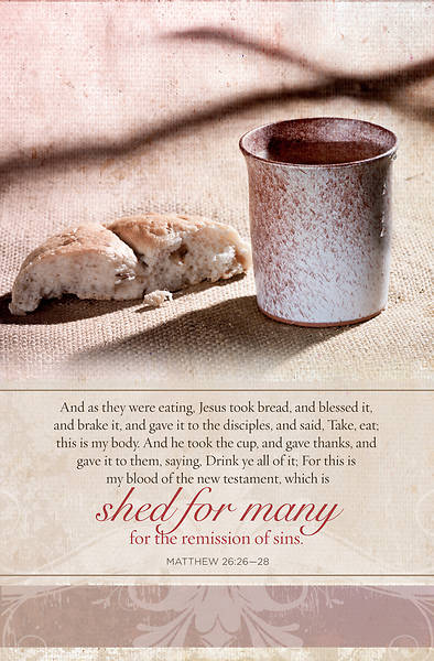 As They Were Eating Matthew 26:26-28, KJV Communion Regular Size Bulletin