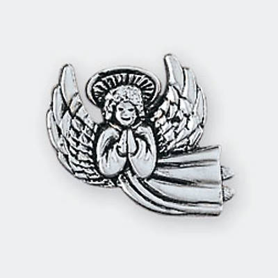Picture of Pewter Lapel Pin - Praying/Flying Angel