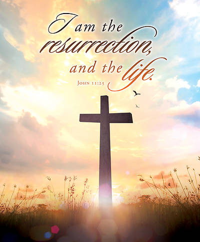 I Am Resurrection Easter Legal Size Bulletin