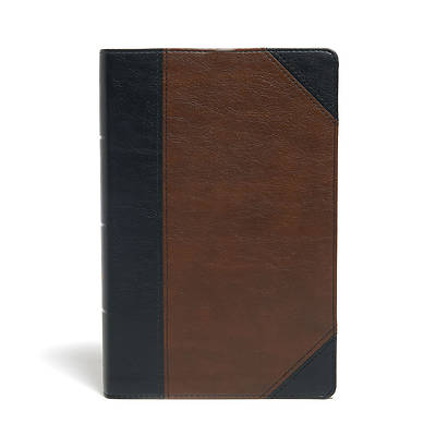 Picture of KJV Large Print Personal Size Reference Bible, Black/Brown Leathertouch