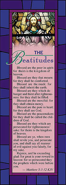 The Beatitudes Bookmark (Package of 25)