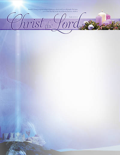 Picture of A Child Is Born Christ the Lord Christmas Stationery