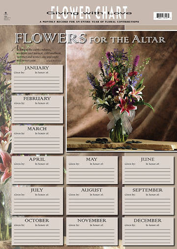 Picture of Flower Reminder Chart