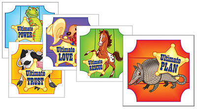 Gospel Light Vacation Bible School 2013 SonWest RoundUp Skin Decals (pkg50)