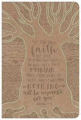 Picture of HCSB Large Print Personal Size Reference Bible, Natural Faith Leathertouch