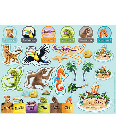 Vacation Bible School (VBS) 2018 Shipwrecked Sticker Sheets - Pkg of 10