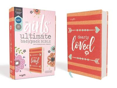 Picture of NIV Girls' Ultimate Backpack Bible, Faithgirlz Edition, Compact, Flexcover, Coral, Red Letter Edition, Comfort Print
