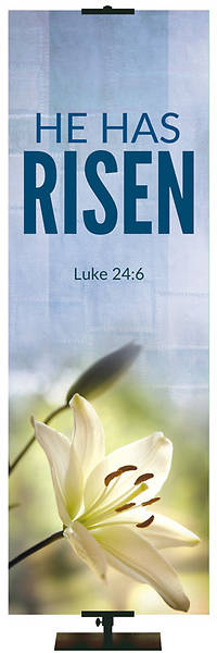 Picture of Easter Adorations He Has Risen 2' x 6' Fabric Banner