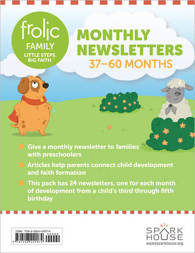 Frolic Family Monthly Newsletters 37-60 Months