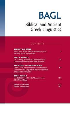 Picture of Biblical and Ancient Greek Linguistics, Volume 9