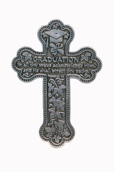 Picture of Graduation Message Metal Wall Cross 5.5""
