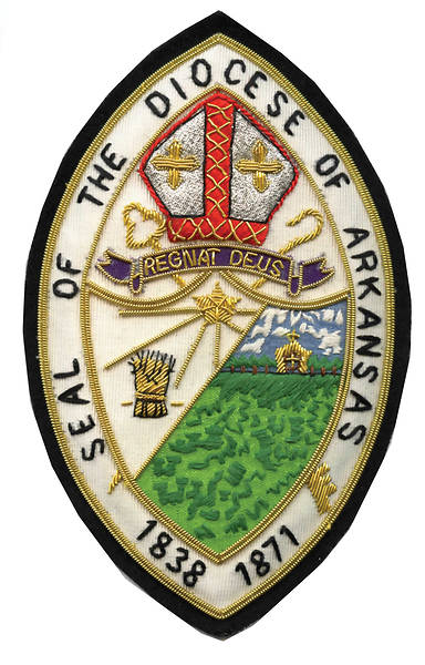 Hand Embroidered Diocesan Seal - Diocese of Arkansas