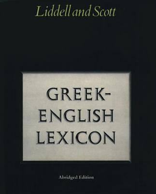 Picture of Abridged Greek-English Lexicon