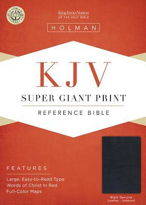 Picture of KJV Super Giant Print Reference Bible, Black Genuine Leather Indexed