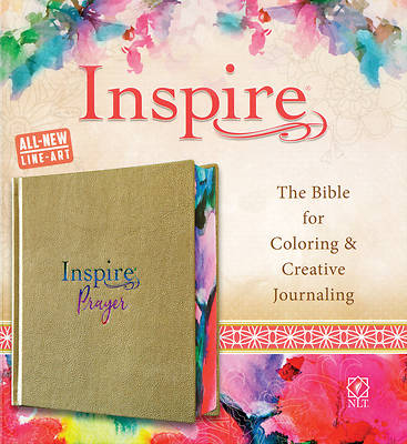 Picture of Inspire Prayer Bible NLT (Hardcover Leatherlike, Metallic Gold)