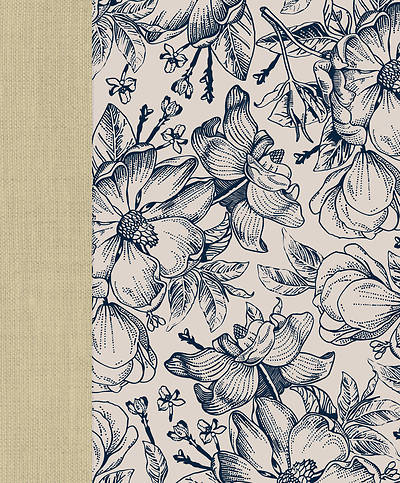 Picture of CEB Wide-Margin Navy Floral Bible